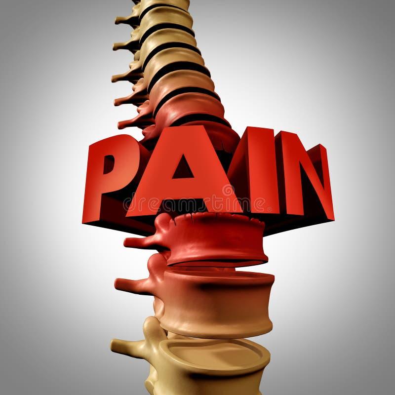 人的脊椎痛苦 库存例证