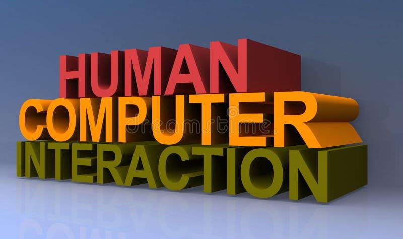 人的计算机互作用 库存例证