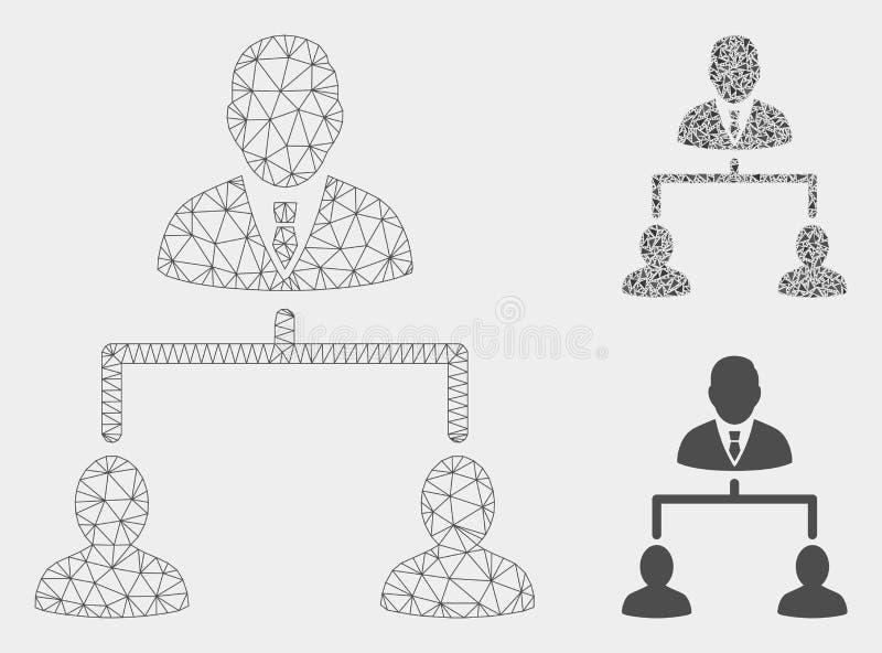 人的阶层传染媒介网状网络模型和三角马赛克象 皇族释放例证