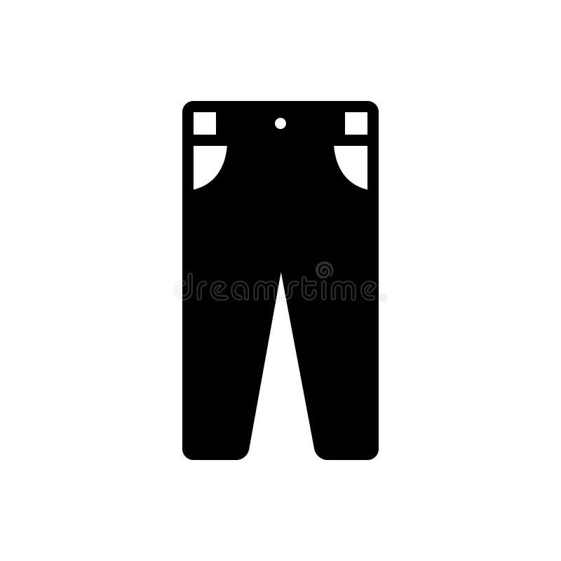 人的黑坚实象气喘,衣物和牛仔裤 向量例证
