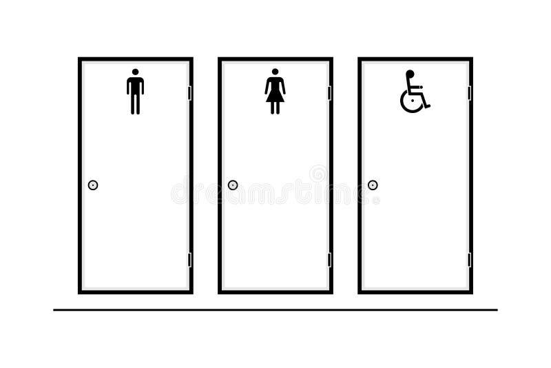 人的,妇女,轮椅人,传染媒介例证进口 向量例证
