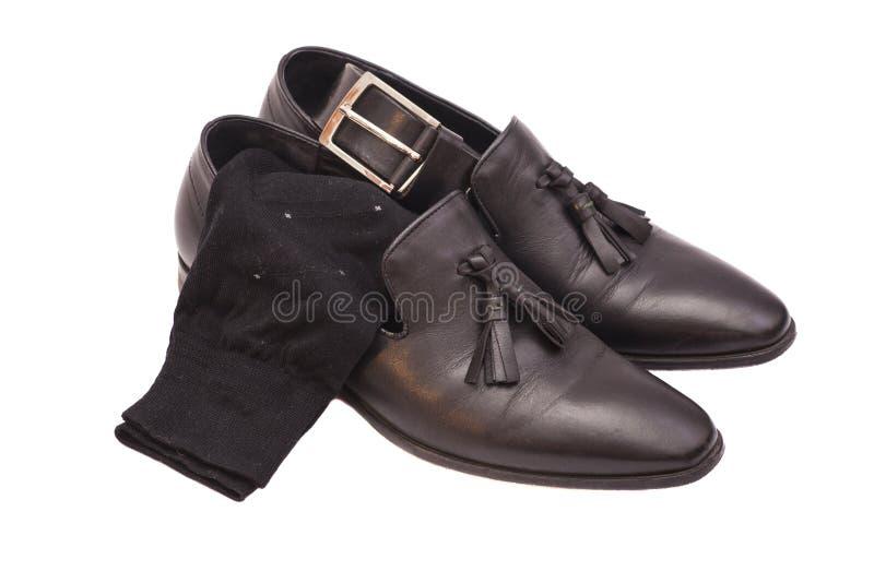 黑人皮鞋 库存照片