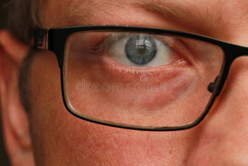 人眼睛特写镜头 免版税库存照片