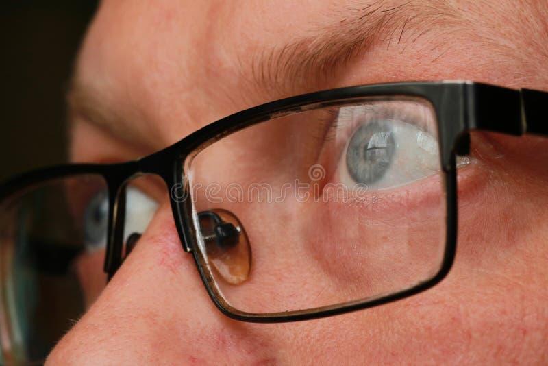 人眼睛特写镜头 库存照片