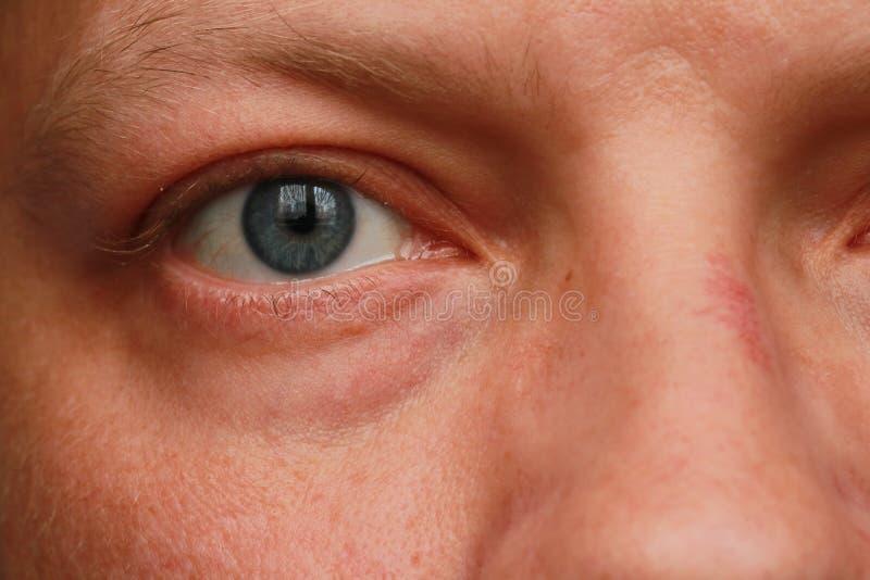 人眼睛特写镜头 免版税库存图片