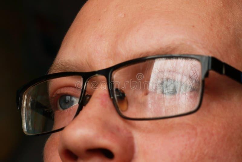 人眼睛特写镜头 库存图片