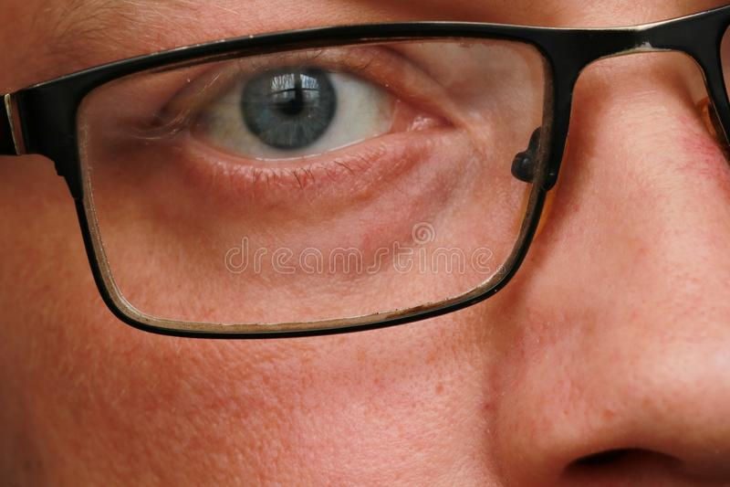 人眼睛特写镜头 图库摄影