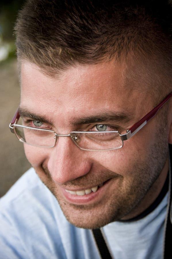人眼镜 图库摄影