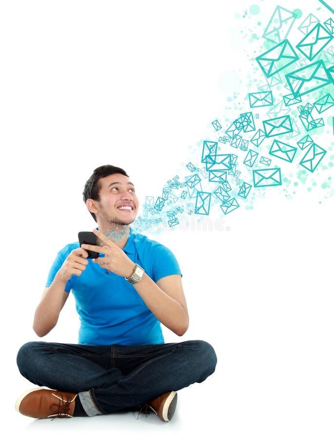 人短信的消息 免版税库存图片