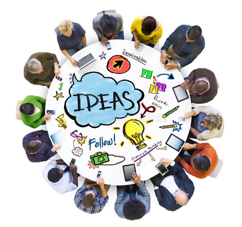 人社会的网络想法概念 免版税图库摄影