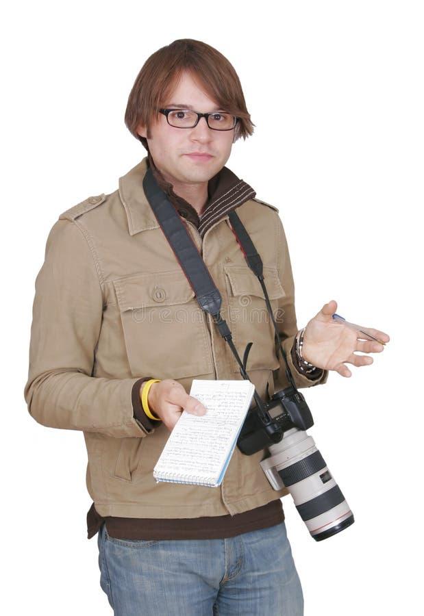 人笔记本摄影记者 免版税库存图片
