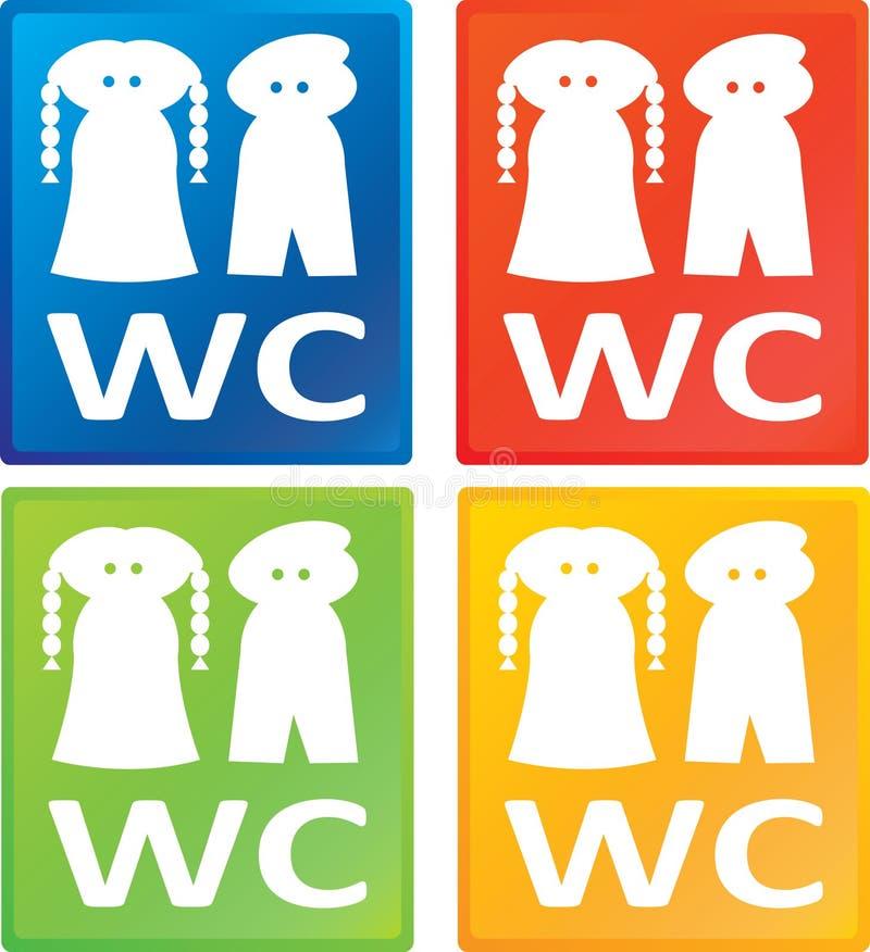 人符号洗手间wc妇女 免版税库存照片
