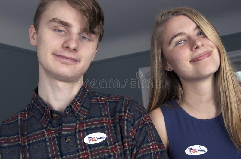 年轻人第一次选民 免版税库存照片
