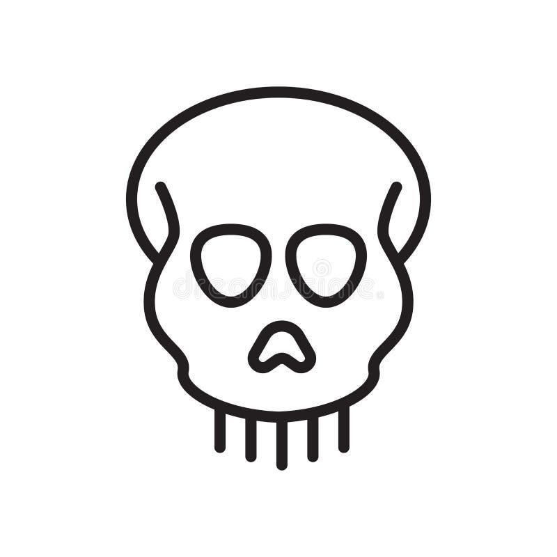 人类学象在白色backg和标志隔绝的传染媒介标志 皇族释放例证
