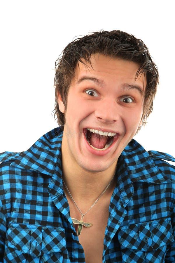人纵向微笑 免版税库存图片
