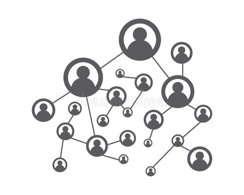 人网络和社会象 向量例证