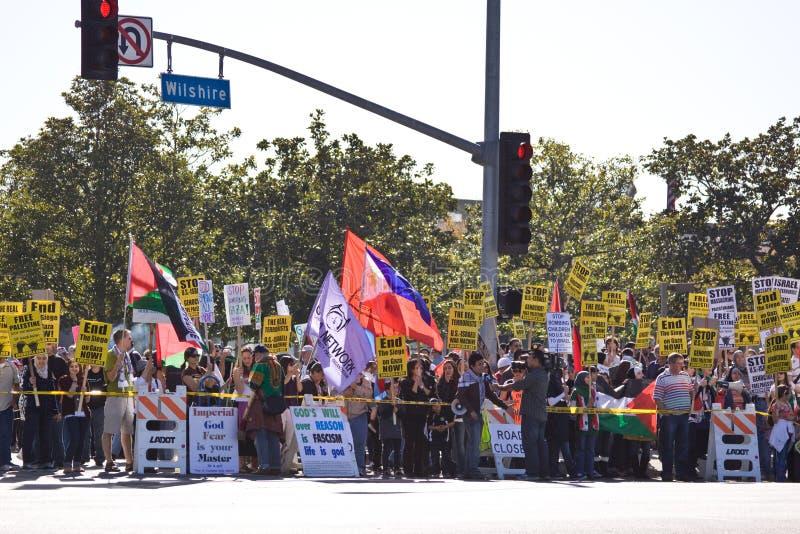 人群以色列palestenian拒付 库存图片