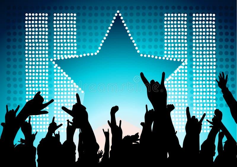 人群摇滚明星 向量例证