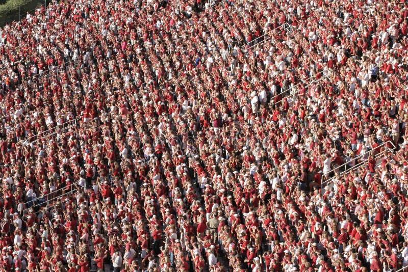 人群橄榄球sideview 库存图片
