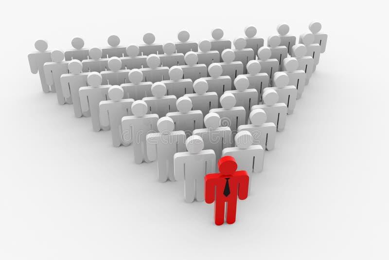 人群表单领导先锋三角 向量例证