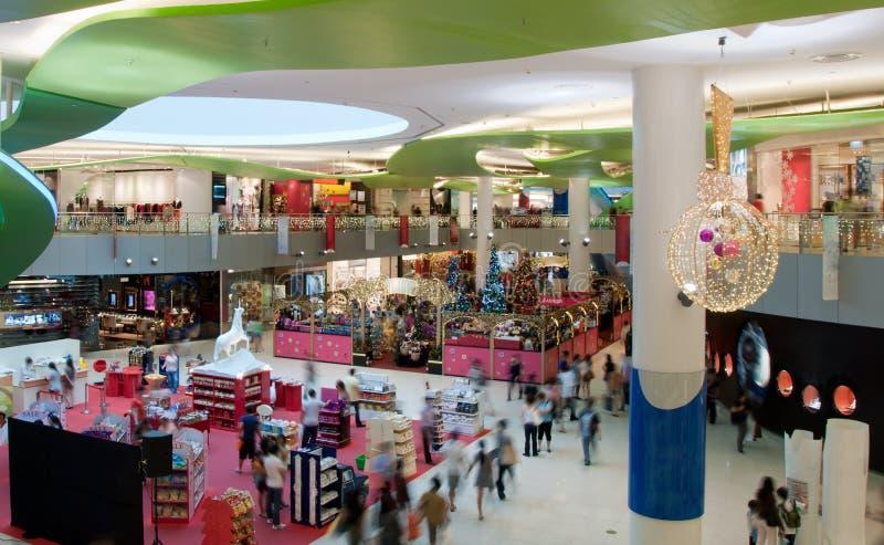 人群购物中心 库存图片