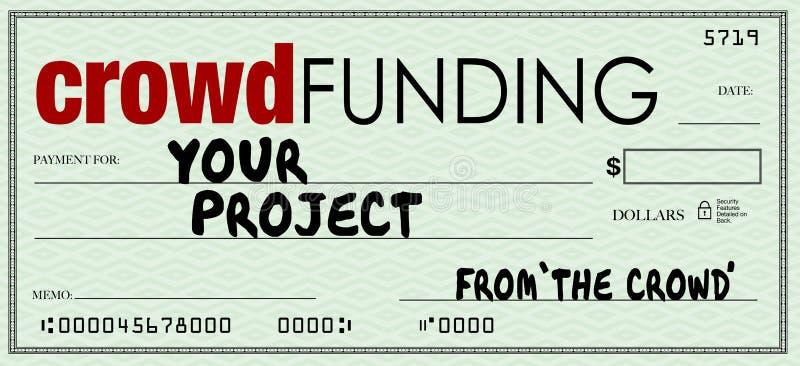 人群资助检查投资在您的项目的空白数额 向量例证