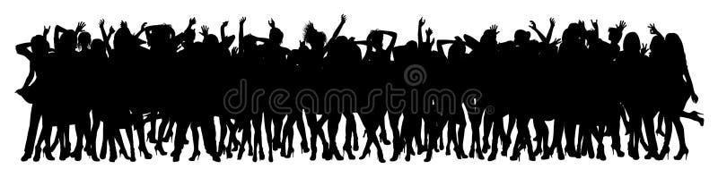 人群跳舞 皇族释放例证