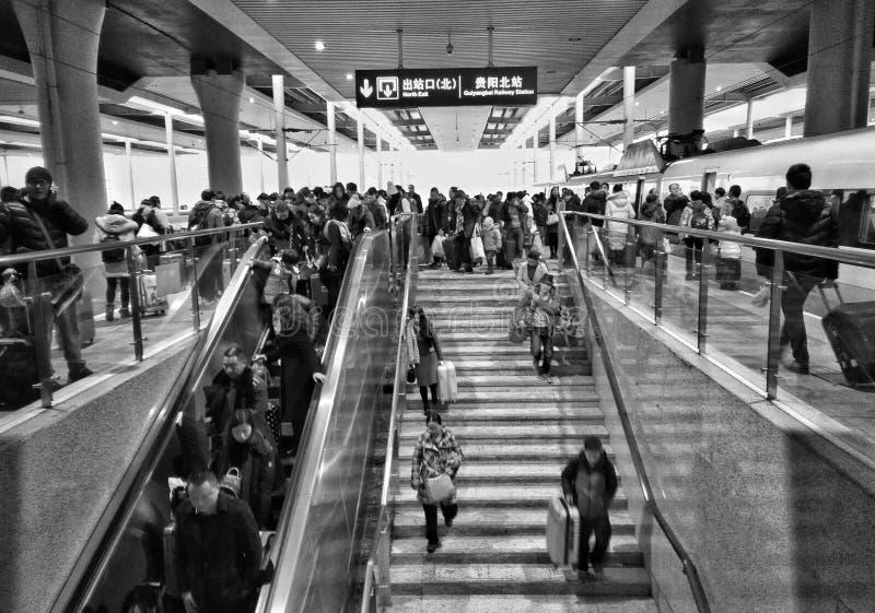 人群高铁驻地2 库存照片