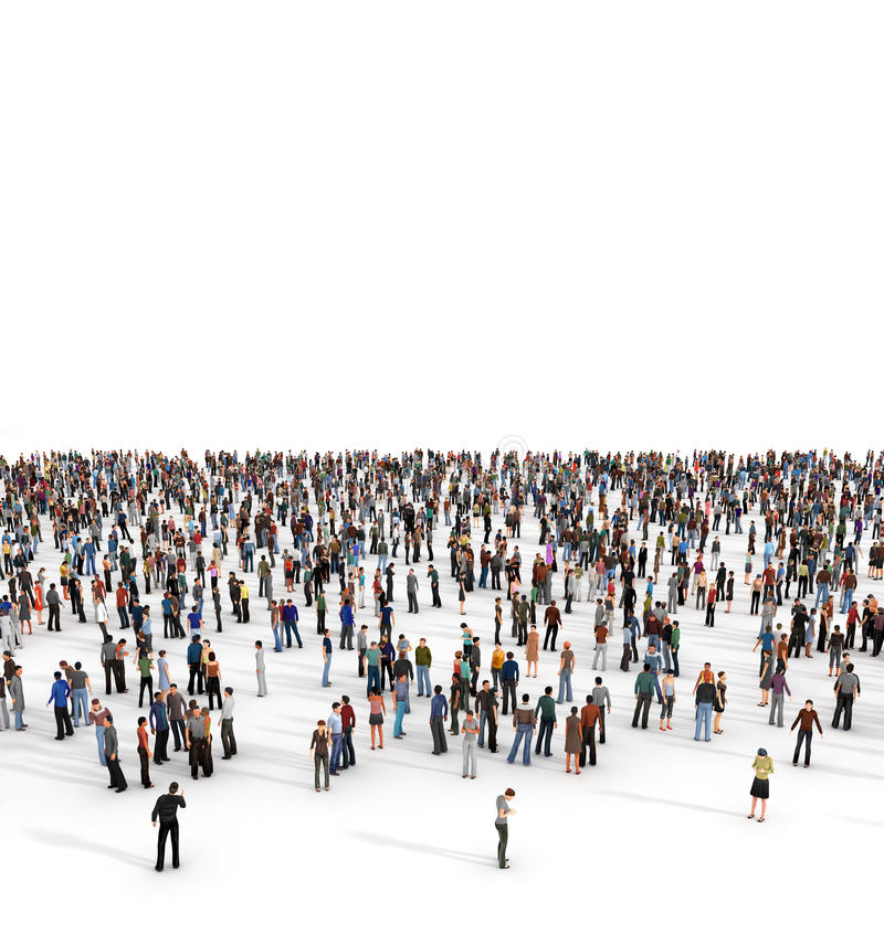 人群 一群大人 免版税库存照片