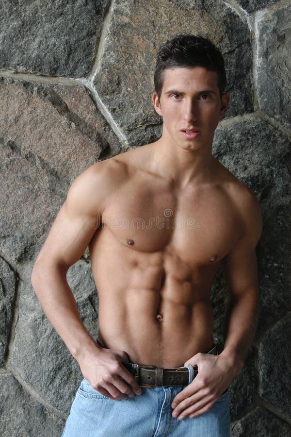 人肌肉年轻人 库存照片