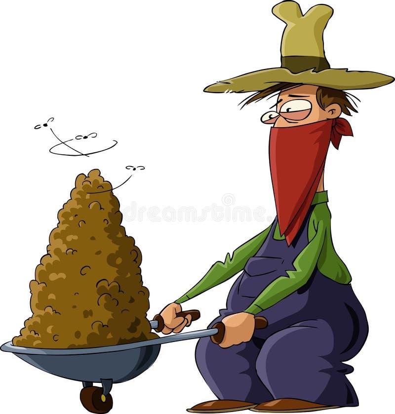 人肥料 向量例证