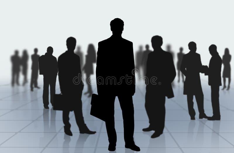 人背景小组 向量例证