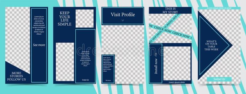 人脉故事的时髦编辑可能的模板,传染媒介例证 社会媒介的设计背景 库存例证
