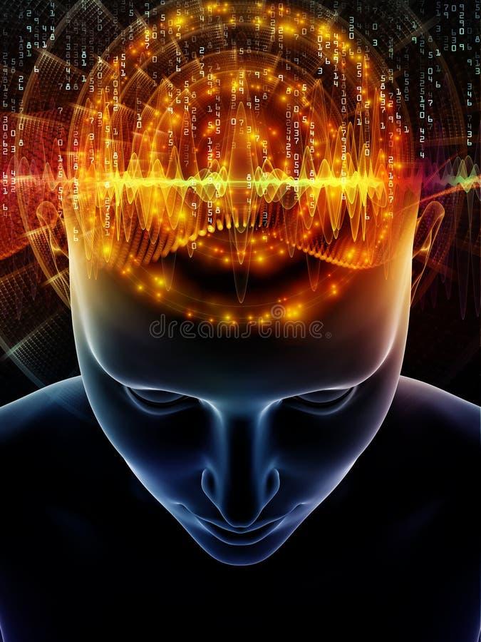 人脑前进  向量例证