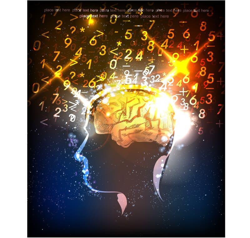 人脑力量例证 皇族释放例证