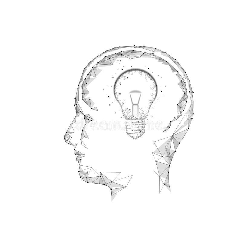 人脑智商聪明的企业概念 电子教学nootropic药物补充braingpower 突发的灵感创造性的想法 库存例证