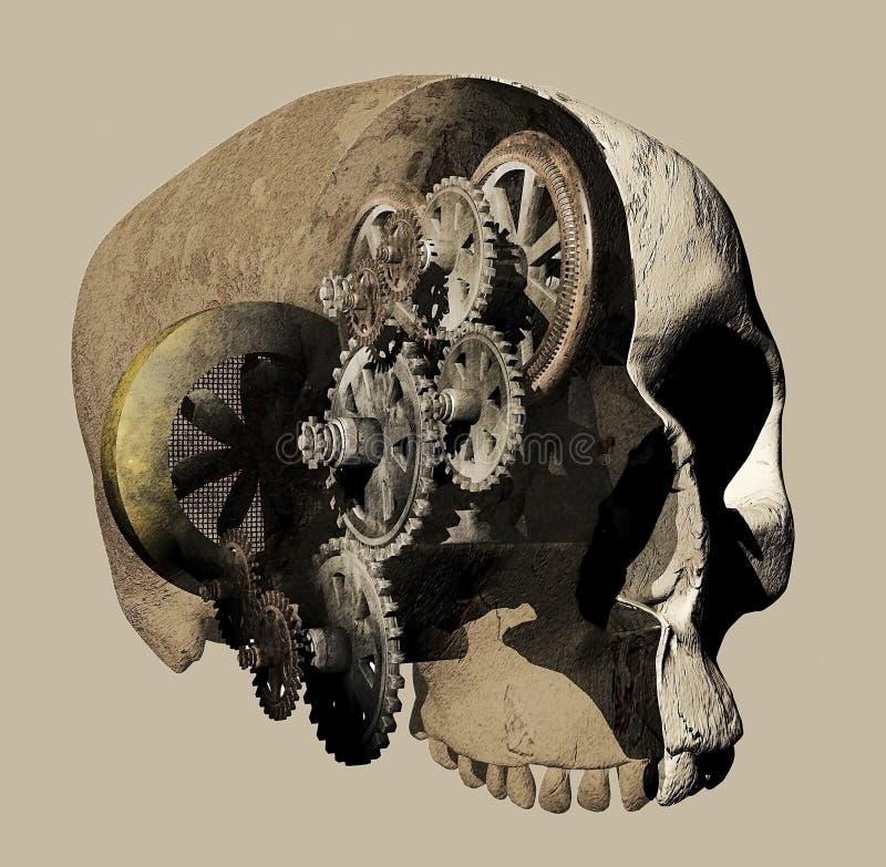 人脑机制 库存例证