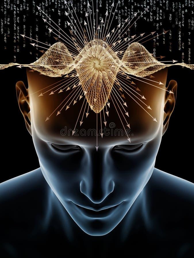 人脑比赛  向量例证