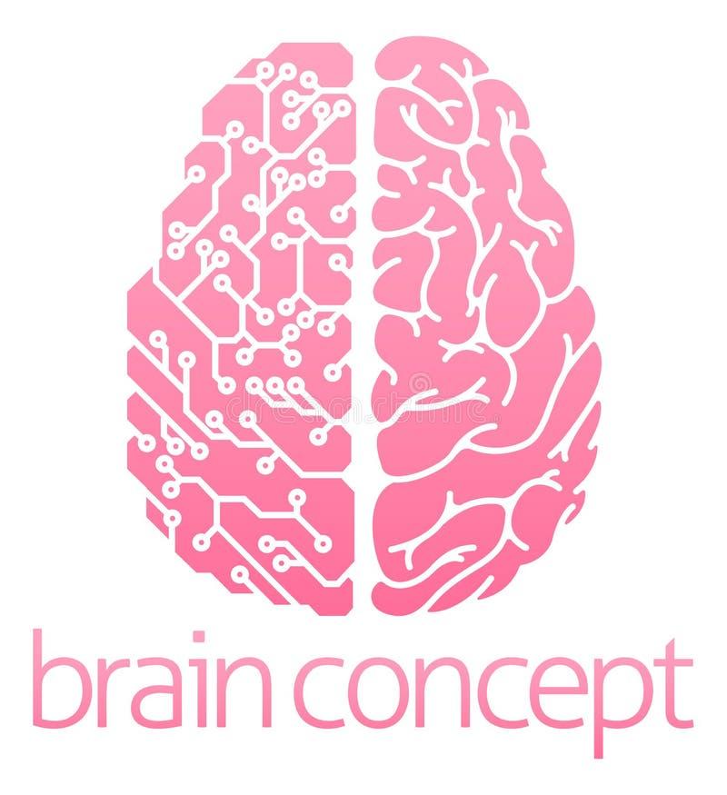 人脑电路 库存例证