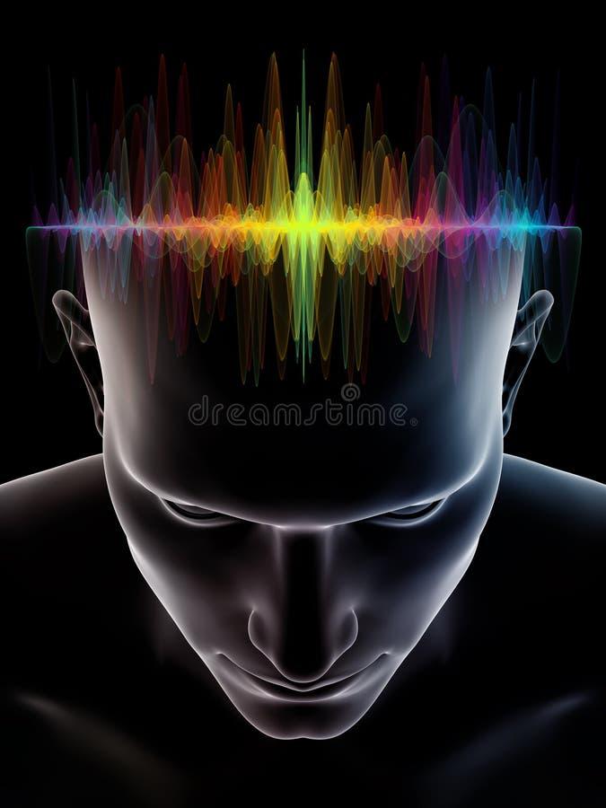 人脑的力量 库存例证