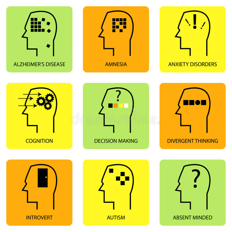 人脑线艺术象  向量例证