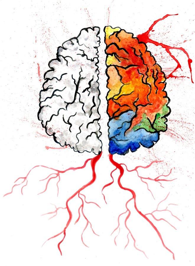 人脑艺术 库存例证