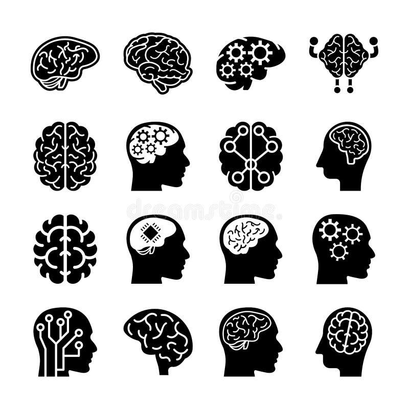 人脑象 库存例证