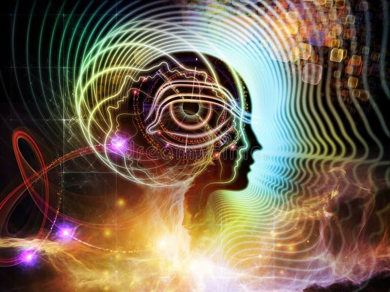人脑透视  库存例证