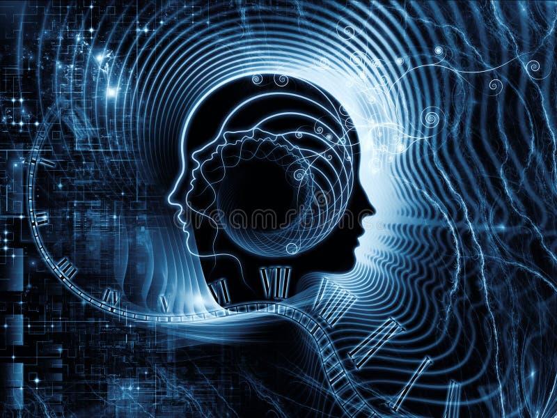 人脑领土  库存例证