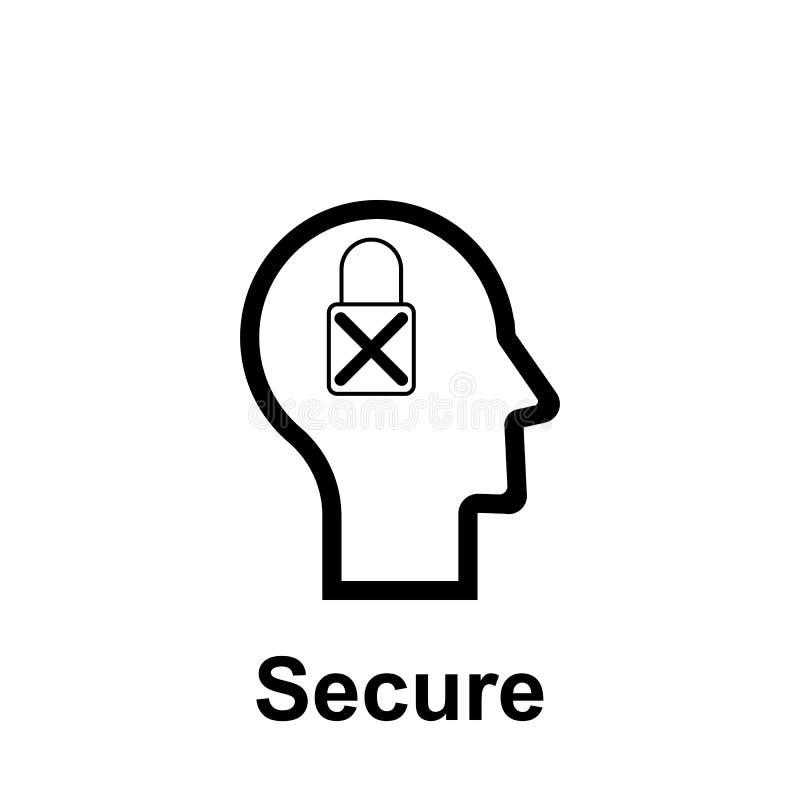 人脑,安全象 r 可以使用稀薄的线人脑,安全象 皇族释放例证