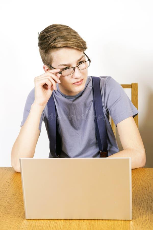 人膝上型计算机 免版税图库摄影