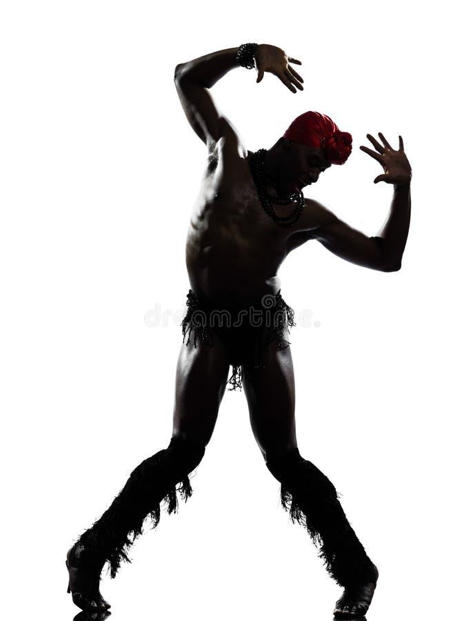 人舞蹈演员跳舞 免版税图库摄影