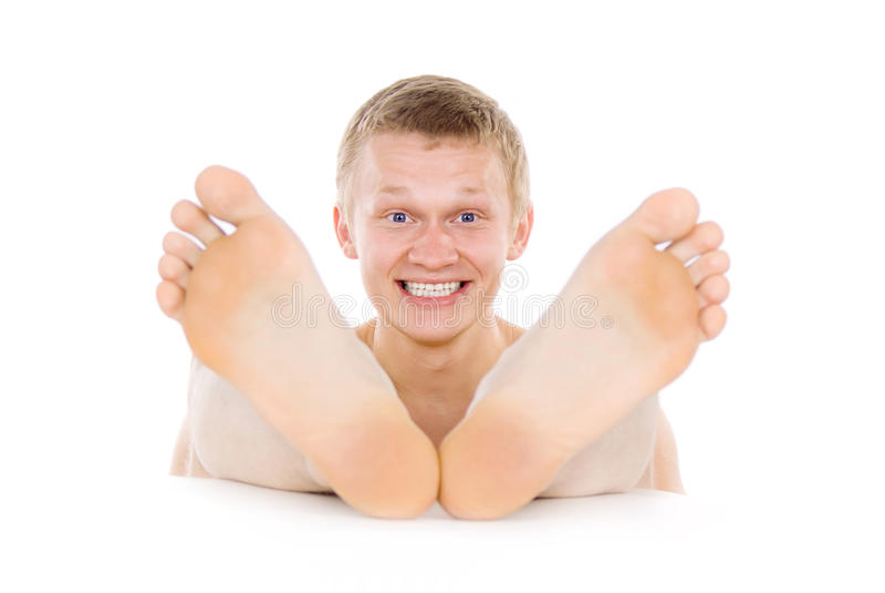 人英尺,脚趾,英尺 免版税库存图片