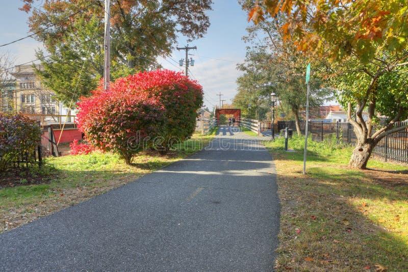 人行道在北安普顿,马萨诸塞 免版税库存图片